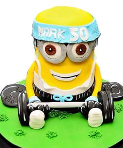 3D Minion birthday cake