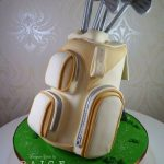 3D Golf Bag Cake