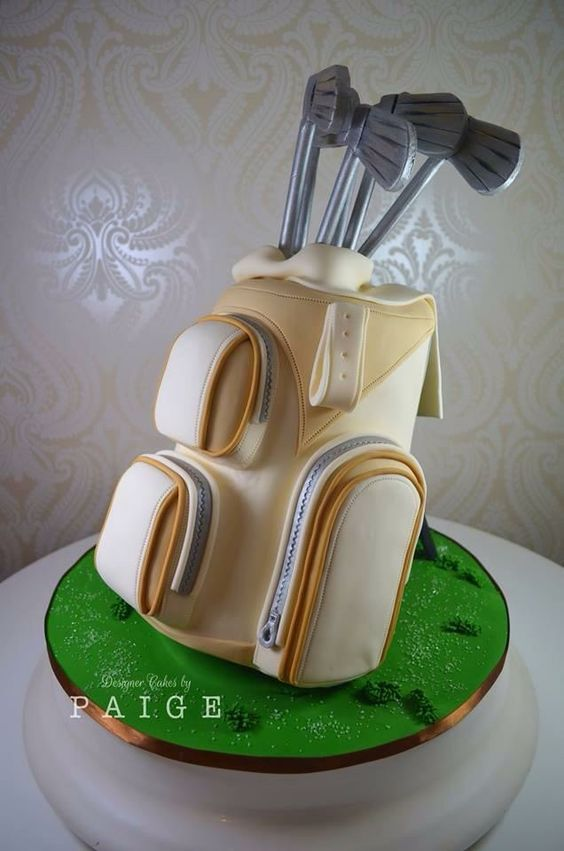 Golf Bag Birthday Cake