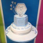 blue-engagement-celebration-cake