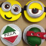 Minion and Teenage Mutant Ninja Turtles boy birthday party cupcakes