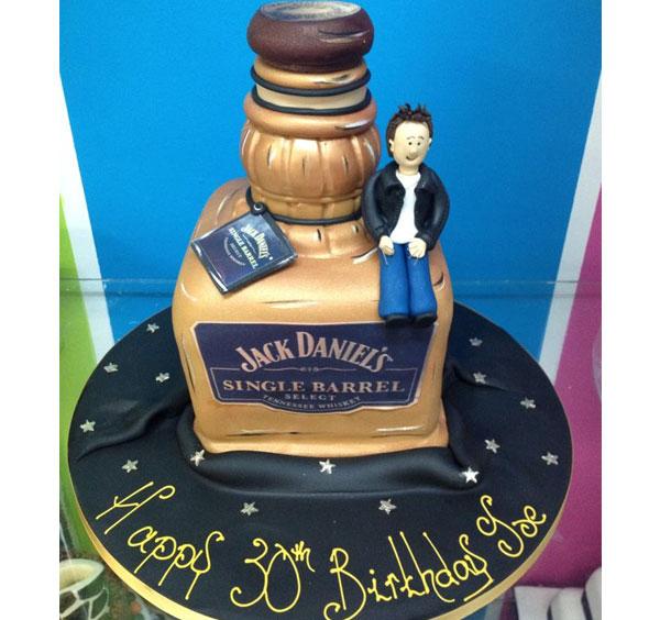 Jack Daniels Single Barrel Birthday Cake