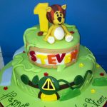 Jungle Lion birthday cake for kids