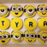 Personalised Minion birthday cupcakes