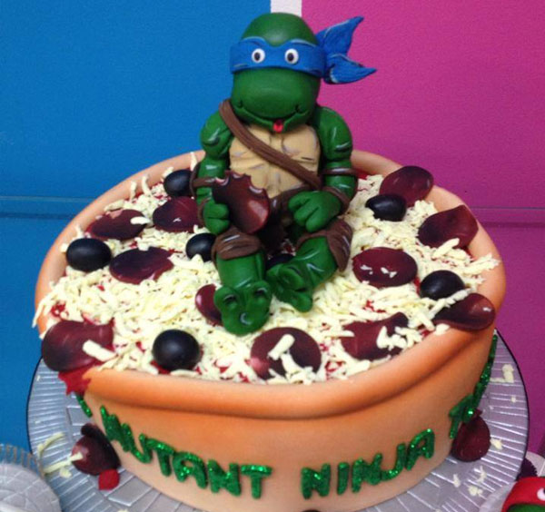 TMNT Pizza Party Cake