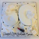 Glam 60th Cake