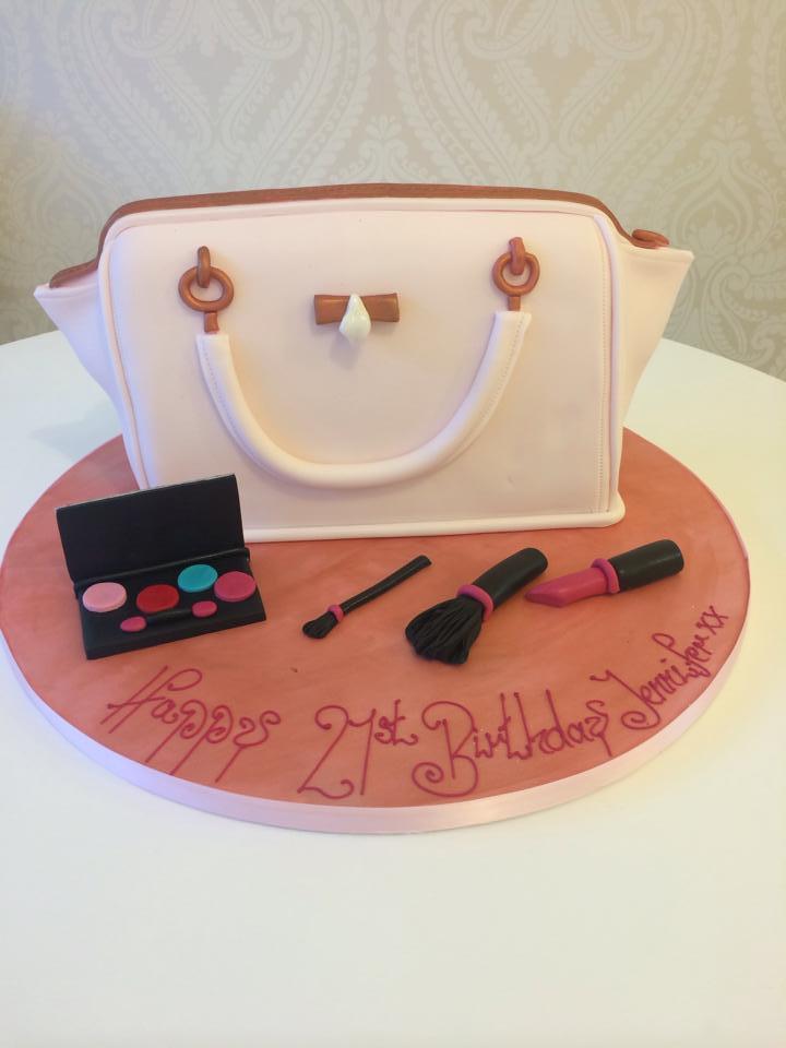 Handbag And Makeup Cake