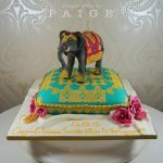 Eastern Elephant on Pillow Cake