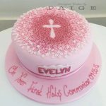 Pink Ombre Blossom Cross Cake