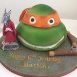 3d Turtle and Shredder Cake