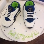 3d Hurache Blue Trainers Cake