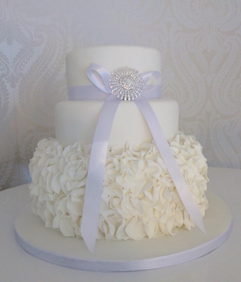 Wedding Cake With Big Bow