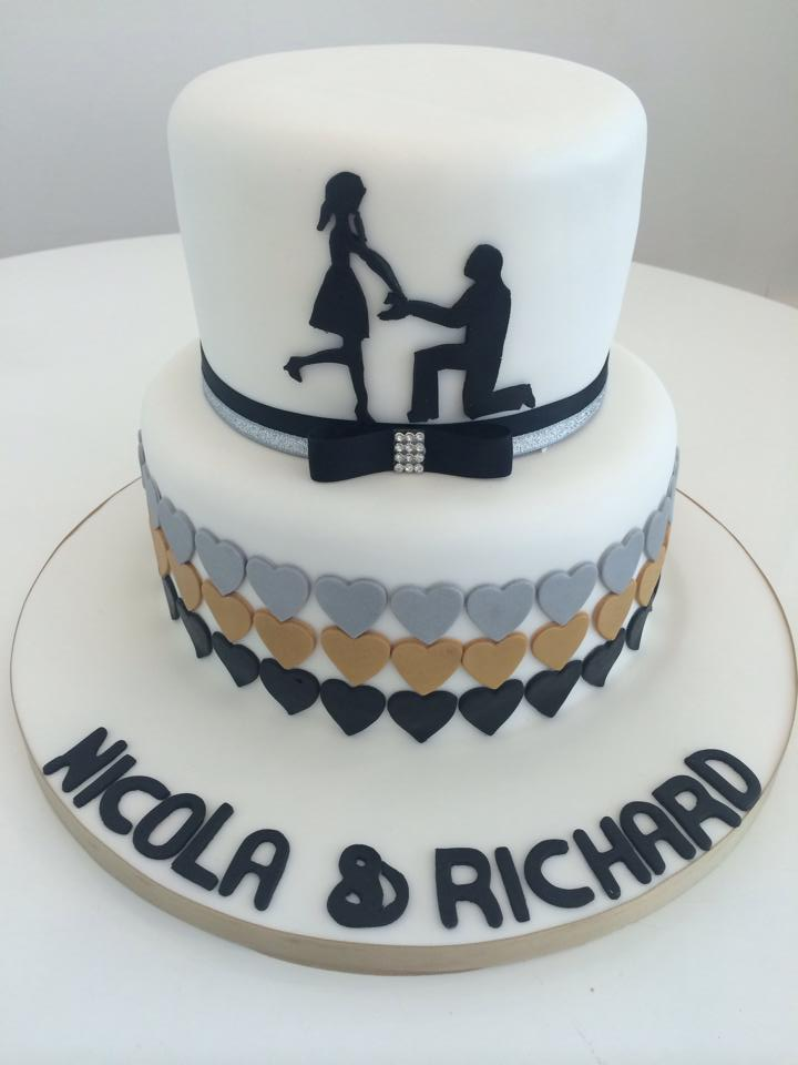 baby shower cakes glasgow Engagement Cake Silhouette Occasions ...
