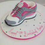 3d Hurache Pink Trainer Cake
