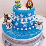 Frozen Minions Cake