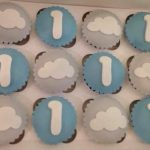 First Birthday Cloud Cupcakes