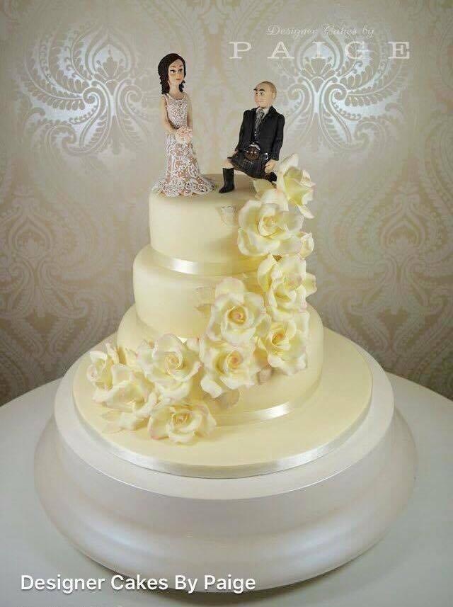 Proposal Flower Trail Wedding Cake