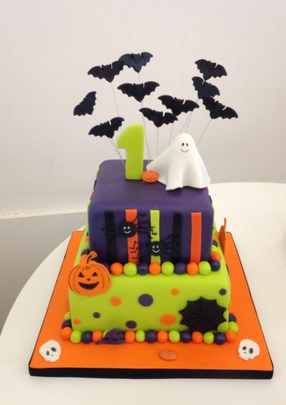 Cute Halloween Birthday Cake Designer Cakes By Paige