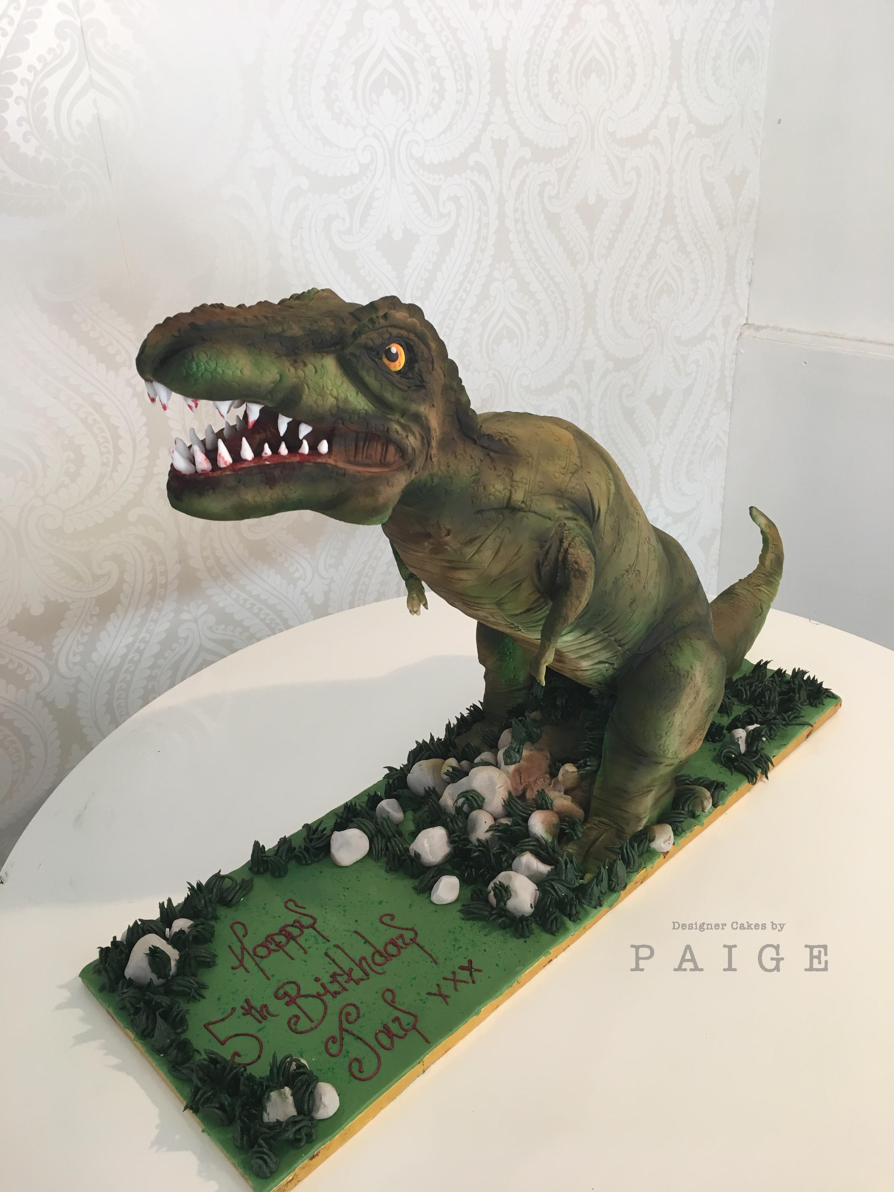 3D TRex Designer Cakes by Paige