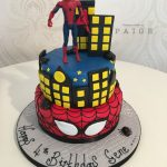 Spiderman Two Tier Cake