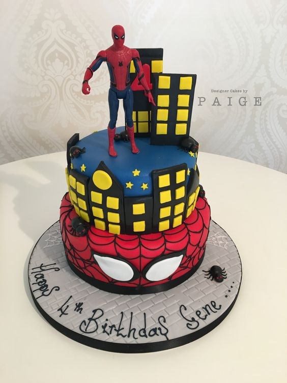 Spiderman Skyline Designer Cakes By Paige
