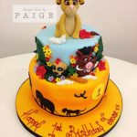 Lion King Two Tier Birthday Cake
