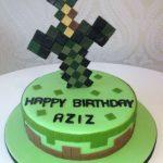 Minecraft Sword Birthday Cake