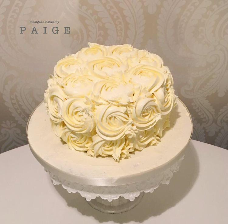 Vanilla Buttercream Swirl Designer Cakes By Paige