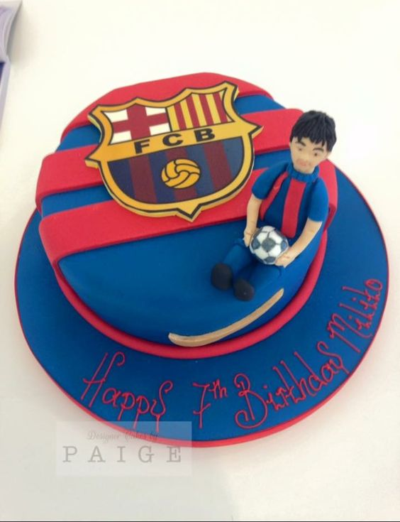 Barcalona FC with Figure Designer Cakes by Paige
