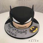Simple Batman Head Birthday Cake