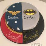 Wonder Woman Batman Birthday Cake
