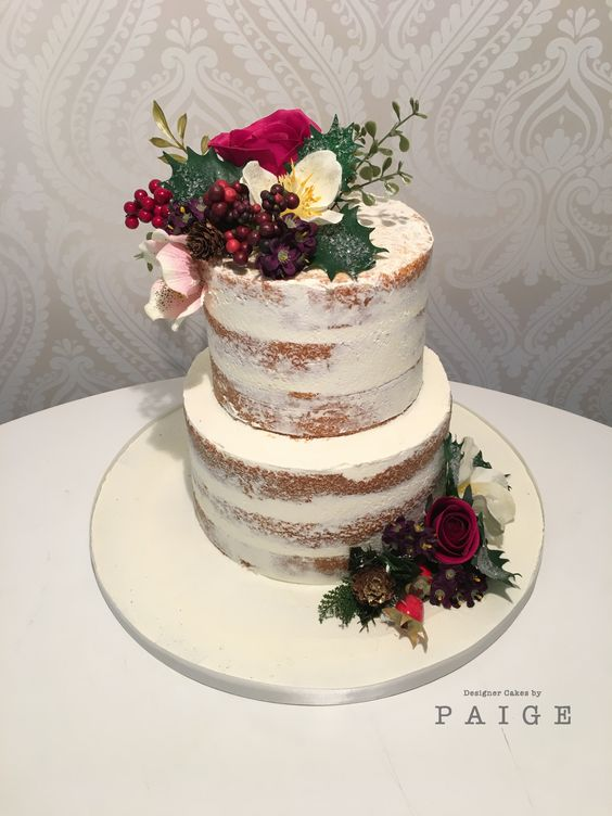 Naked Cake 2 Tier Designer Cakes By Paige