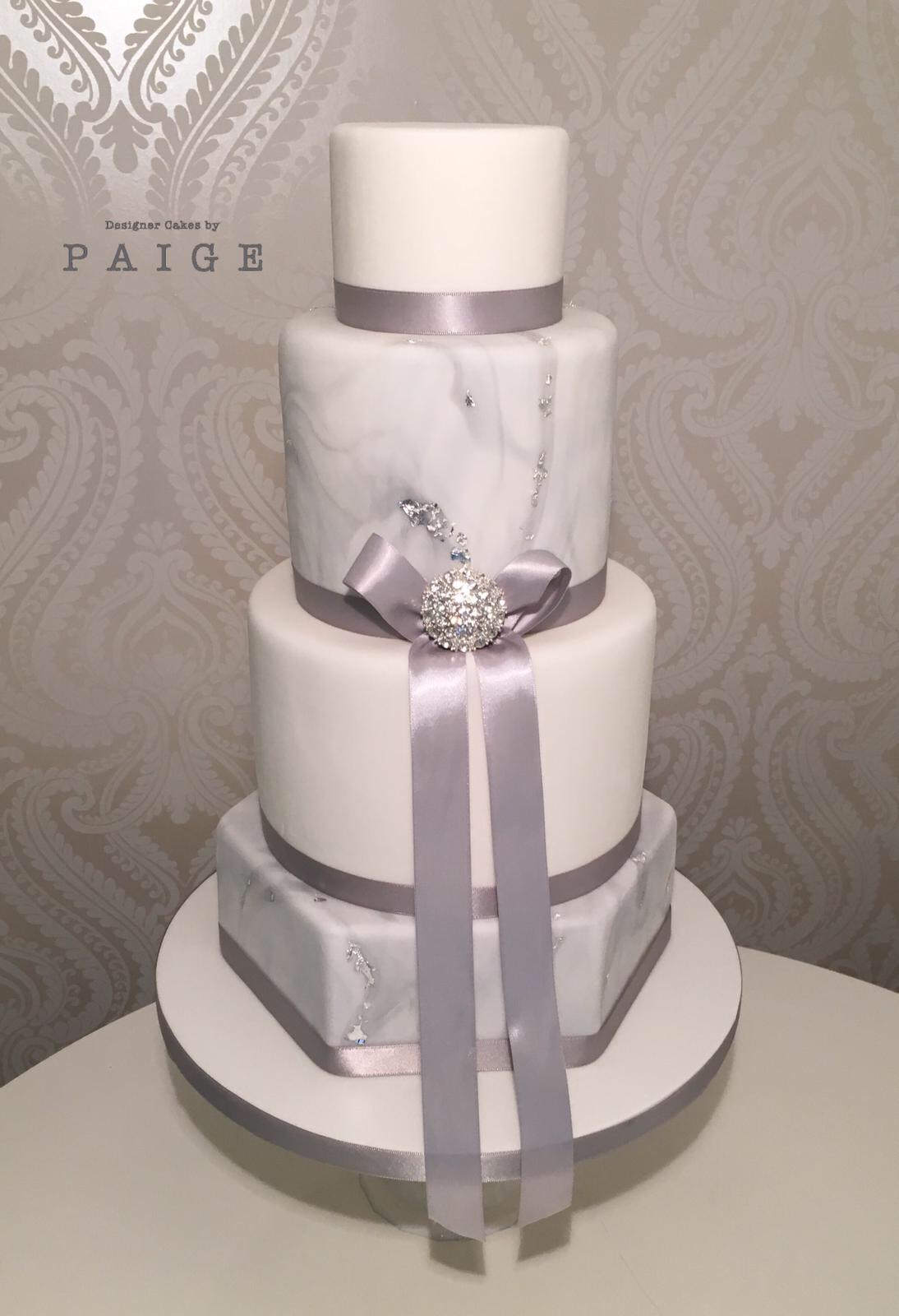 Silver Marble Designer Cakes By Paige